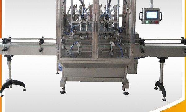 Automatische overloop zwaartekracht fles vloeistof vulmachine