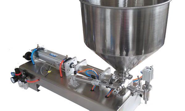 Semi-automatische zuiger glazen pot honing vulmachine