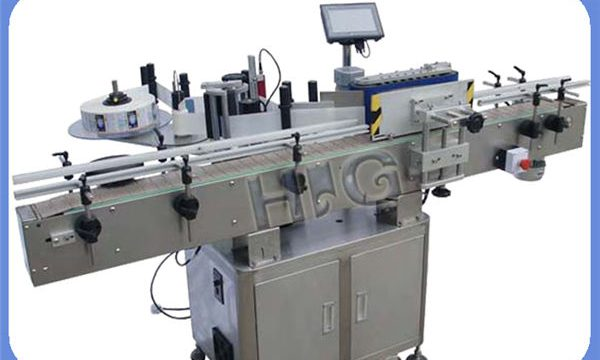 Automatische NPACK ronde fles etiketteermachine fabrikant met printer