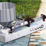 Semi-automatische wasmiddel vloeistof vulmachine