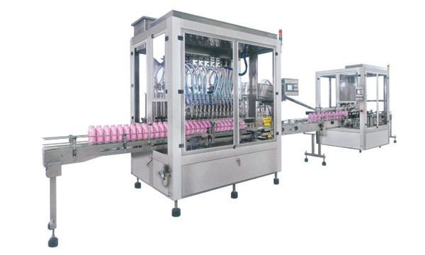 Volautomatische vloeibare zeep wasmiddel vulmachine