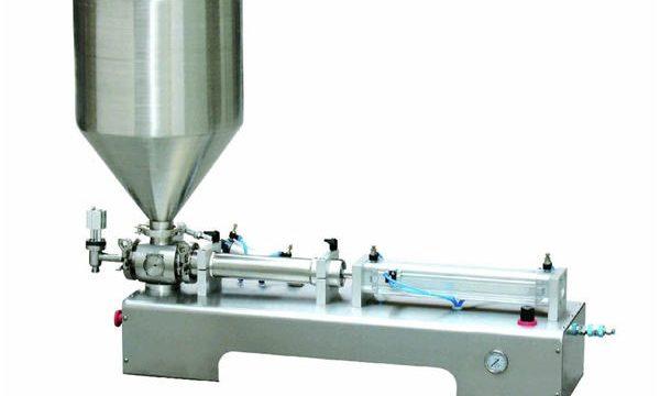Semi-automatische calaminelotionpasta / vloeibare flessenzuiger vulmachine